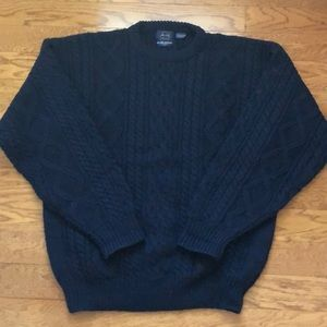 VTG Allen Solly wool cable knit fisherman sweater